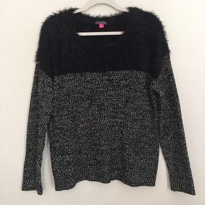 Vince Camuto | Marled eyelash yoke sweater, medium